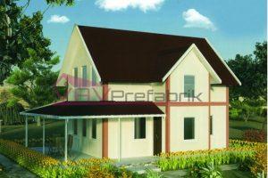 100m2 duplex prefabrik ev