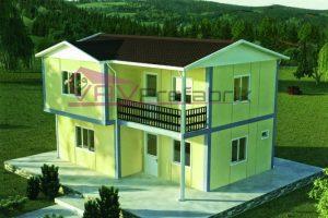 105 m2 duplex prefabrik ev