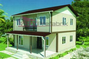 131 m2 duplex prefabrik ev