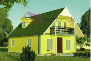 134 m2 duplex prefabrik ev