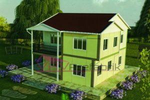 150 m2 duplex prefabrik ev