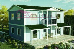 158 m2 duplex prefabrik ev